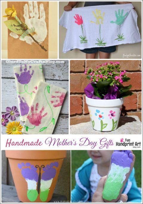 16 Handmade Mother's Day Gifts from Kids   Fun Handprint Art