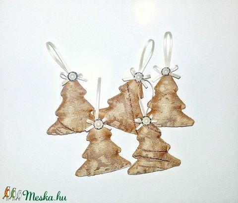 Textil karácsonyfadíszek - karácsonyfa, fenyőfa (SZOFIsticated) - Meska.hu
