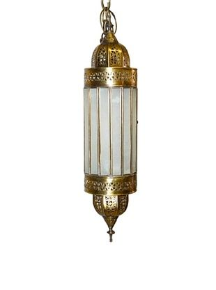 72% OFF Badia Design Brass Shade with White Glass, Beige/White
