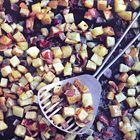 Een heerlijk recept: Aardappelen en uien uit de oven