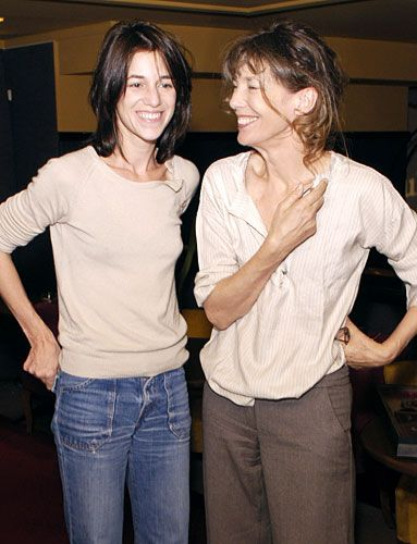 Celebrity Moms and Daughters: Jane Birkin is a former singer, actress, and muse—the inspiration behind Hermes' Birkin bag. Charlotte Gainsbourg is equally inspirational: a singer, actress, and model to Balenciaga designer Nicolas Ghesquiere.