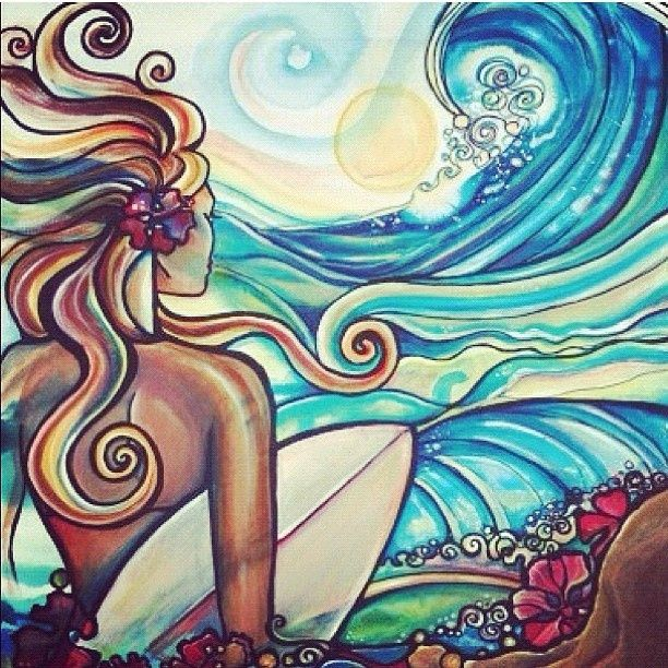 Could Be A Cool Tattoo.. Take Off The Surf Board... I'm never getting a sleeve or anything but that is what I see with this.