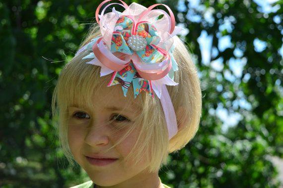 Stacked hair bow Girls hair bows Boutique hair by AccessoriesHair