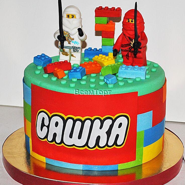 Торт Лего ниндзя. Заказ торта в Москве на день рождения для детей