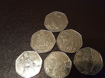 Olympic 50p #coin..6 #coins one lot includes #triathlon,table tennis,sailing,bocc,  View more on the LINK: 	http://www.zeppy.io/product/gb/2/361680164869/
