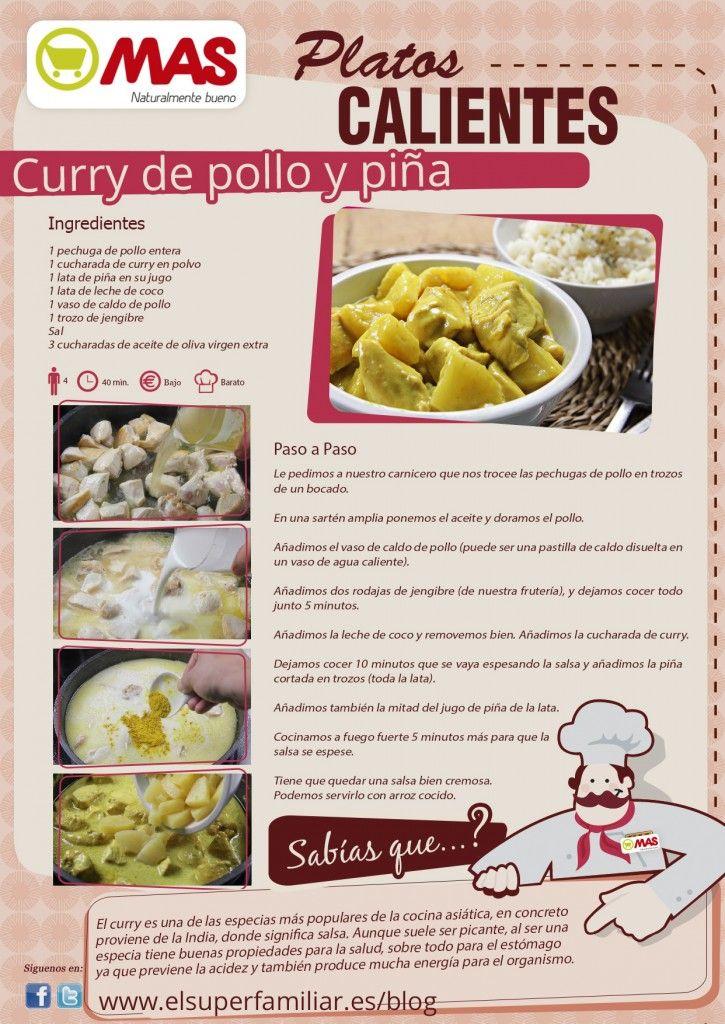 Curry pollo y piña