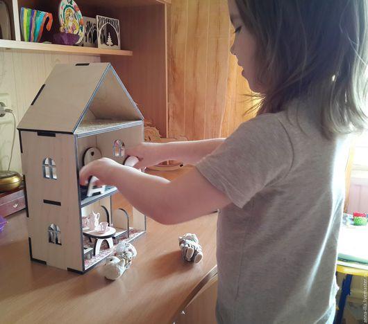 Детская ручной работы. Кукольный домик. Счастливые Слова (anna-ilia). Ярмарка Мастеров. Домик для кукол, деревянный домик