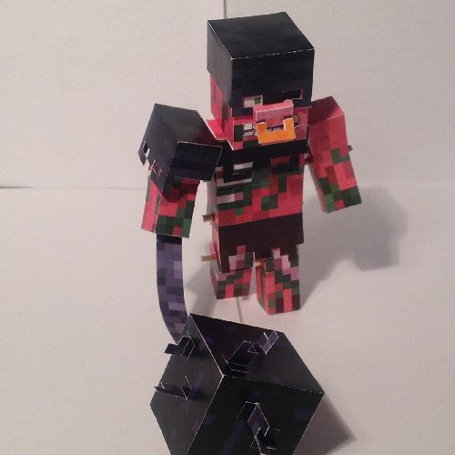 Papercraft Wither Armoured Zombie Pigman Take Back The