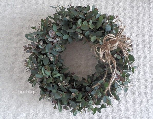 atelier BLUGRA八ヶ岳〜EucalyptusWreath30cm - アトリエ ブルグラ