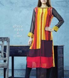 Buy Multicolor Embroidered Kurta kurtas-and-kurti online