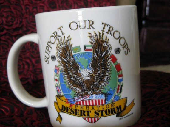 1991 Operation Dessert Storm Support Our Troops by ChinaGalore