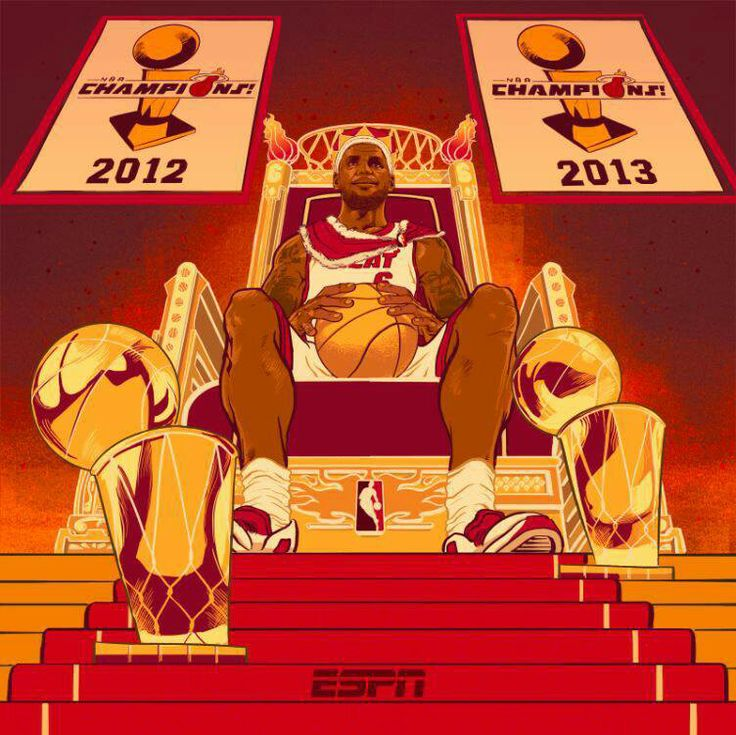 King James on his throne