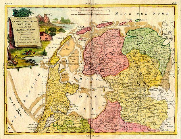Ollanda Propria 1778 Frisia Groninga Overyssel