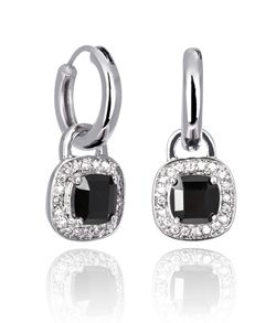BLACK PRINCESS DROP (medium earrings)