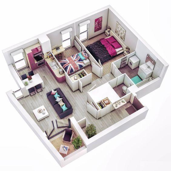 Plans 3D,Sketch,projects #Farisdecor #Plans_3D #Decorateur #3D - Faire Un Plan De Maison En 3d