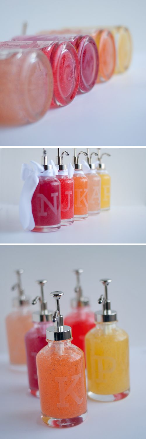 DIY: Monogram Soap Bottles