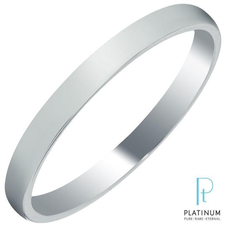 Plain Wedding Band in Platinum (2mm size 4-8)