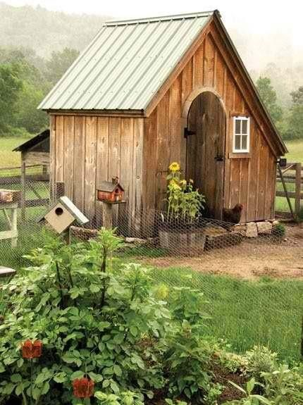 chicken coop...Little House on the Prairie style!!!  Love it!!!