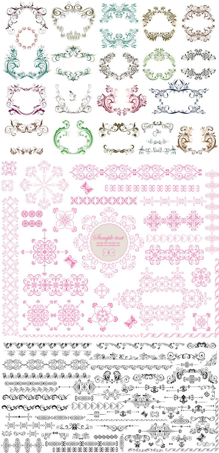 FREE Vector ornament templates