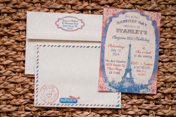 bastille day invitations