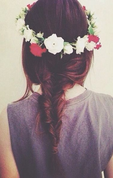 fishtail + flower crown
