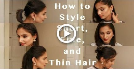 6 Heatless Hairstyles for Fine, Thin and Short hair   How to style 3rd day Short…