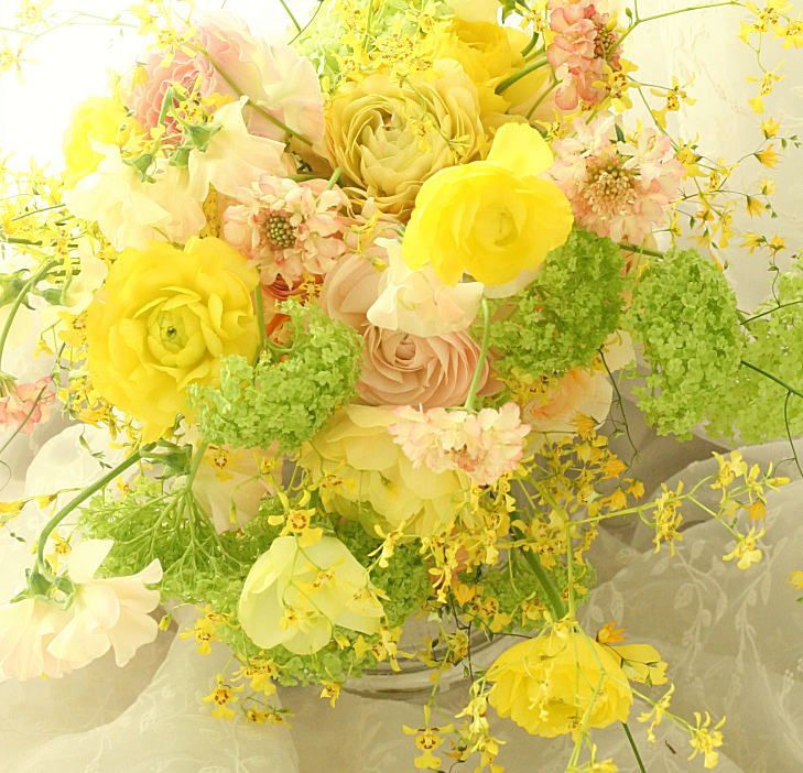 ブーケ シャワー 春色 : 一会 ウエディングの花