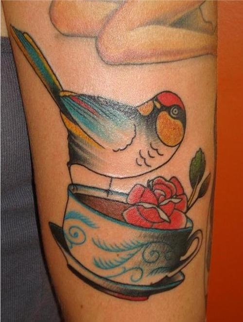 17 Best images about Bird & Teacup Tattoo on Pinterest ...