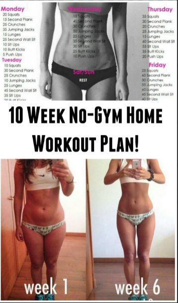 10 Week No-Gym Home Workout Plan  fitness workouts girls