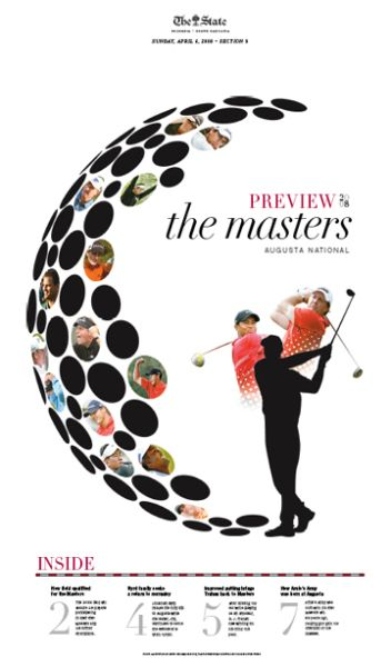 Preview of The Masters, Golf #Newspaper #Design #GraphicDesign