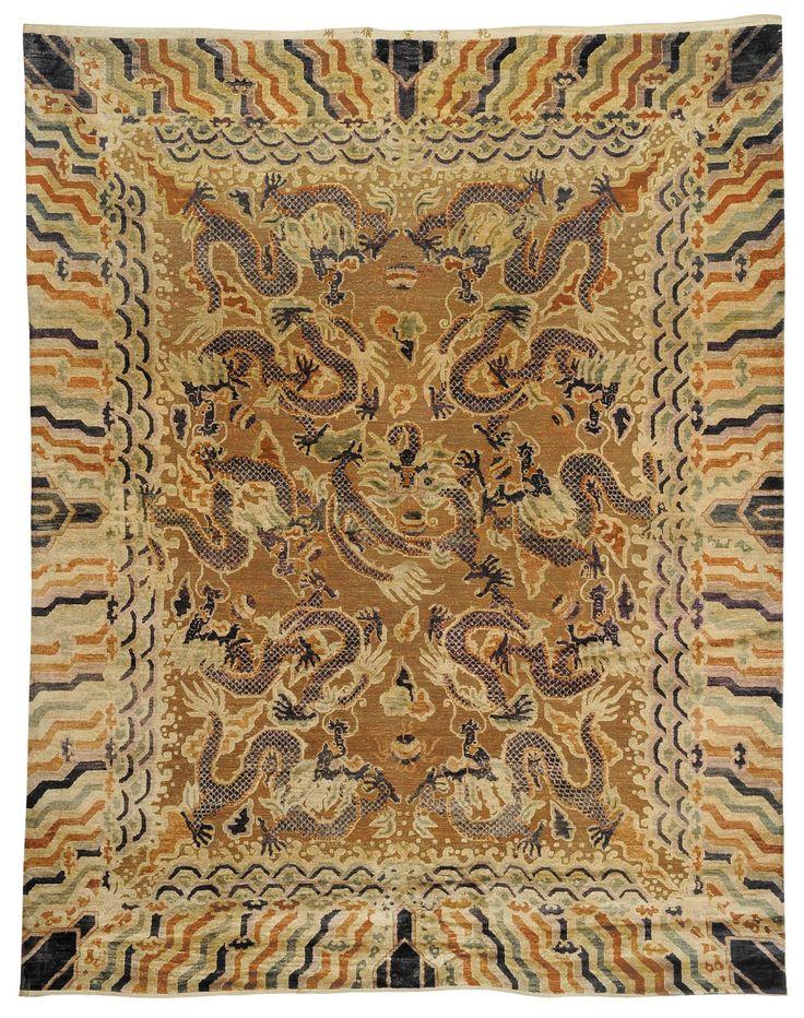 tappeti cinesi draghi -Tappeto in seta con bronzi dorati, Cina XIX secolo Cerca con Google