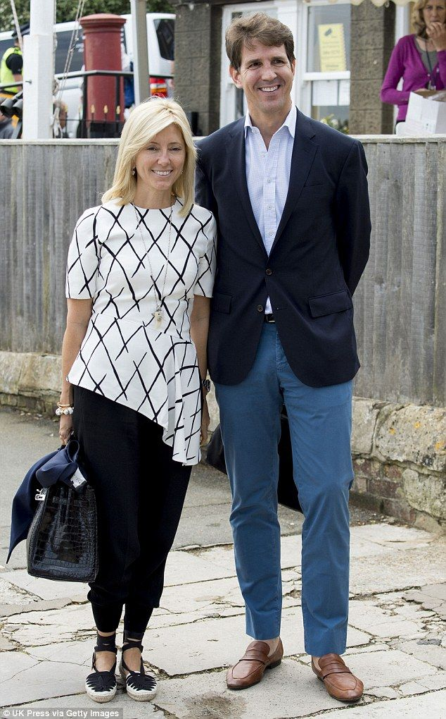 dailymail: Royal Yacht Squadron Bicentenary, Fleet Review at Cowes, June 5, 2015-Crown Prince and Princess of Greece, Pavlos and Marie-Chantal