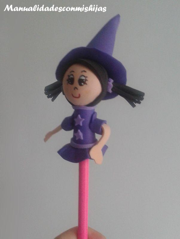 Fofulapiz de bruja para Halloween
