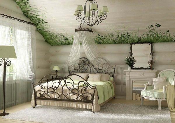 #excll #дизайнинтерьера #решения Обильное использование текстиля облегчит вашу задачу создания спальни в стиле кантри.