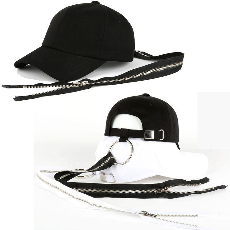 New Big Bang G-Dragon GD Long Strap Zip Ring Trucker Baseball Strapback Hat Caps #hellobincom #TruckerBaseballCapHats