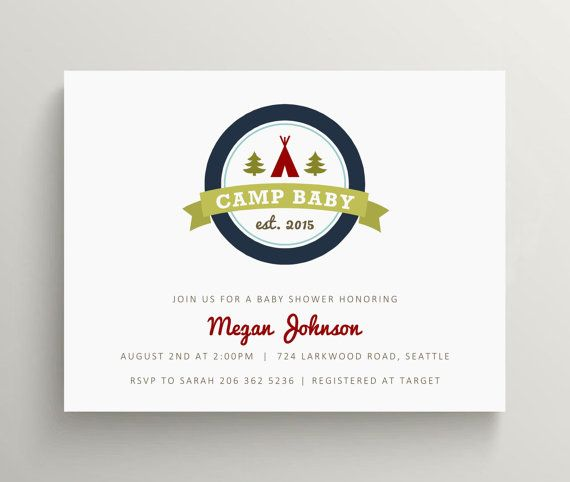 camp baby baby shower invitation // camping baby by OliveandStar