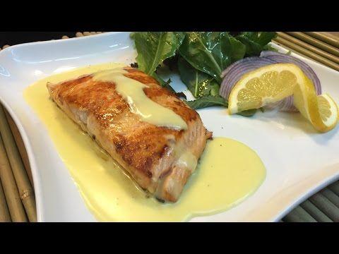 Filete de salmón con crema de mostaza y vino blanco- Louis Roederer - recetas de cocina de pescado - YouTube