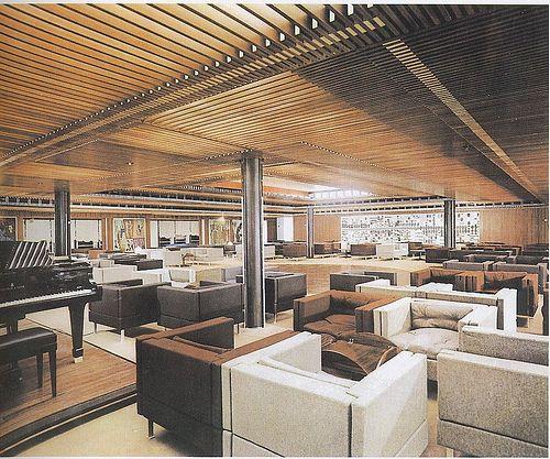 S.S Leonardo Da Vinci Tapestry Lounge by glen.h, via Flickr