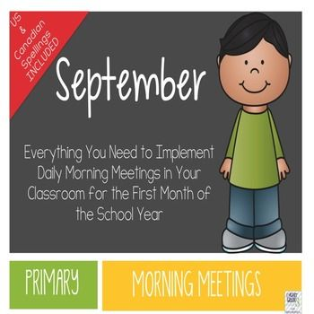 Morning Meetings are a great way to foster a sense of community in your primary classroom. This product is the most affordable and effective way to host Morning Meetings in your classroom. Just print, laminate, and in 15 minutes a day, your students will be collaborating, learning, and having fun first thing in the morning!