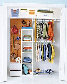 Kid's closet (complete with Martha Stewart article)
