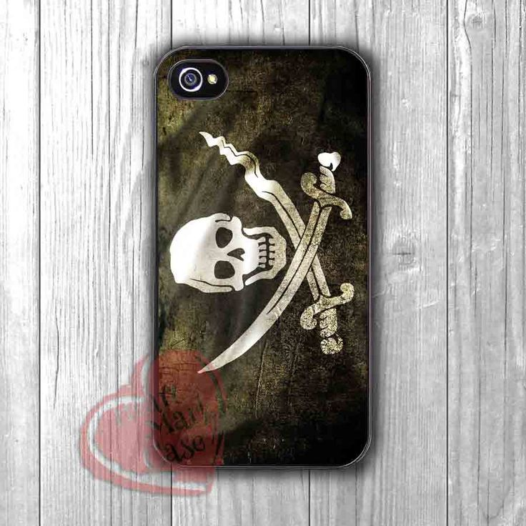 Pirates flags skull and crossbones jolly roger - dit4 for iPhone 6S case, iPhone 5s case, iPhone 6 case, iPhone 4S, Samsung S6 Edge