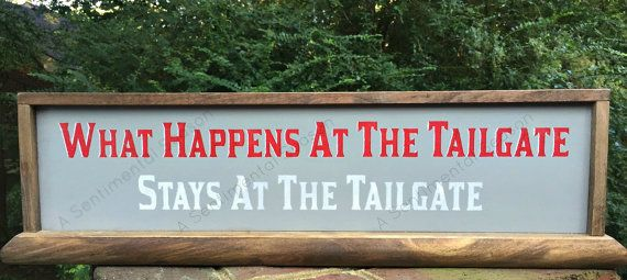 Ohio State themed Sign.  Buckeyes Football Decor. What Happens