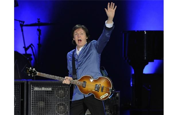 Paul McCartney waves to the crowd at BC Place during his Nov. 25th performance in Vancouver.