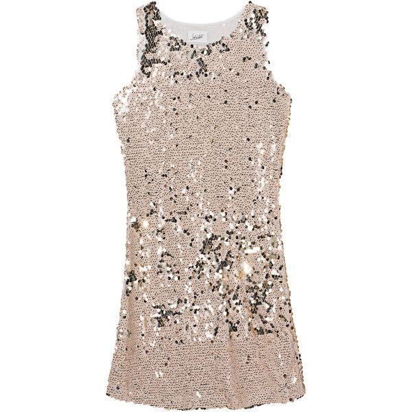 JADICTED Sequins All Over Nude // Sequin dress (405 CAD) ❤ liked on Polyvore featuring dresses, mini cocktail dresses, evening cocktail dresses, sequin cocktail dresses, short sequin cocktail dresses and short evening dresses
