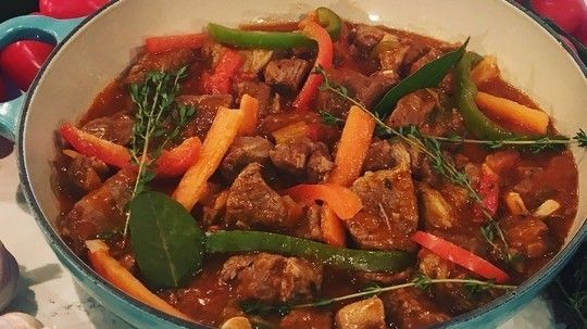 Omar Allibhoy's slow-cooked lamb and pepper stew