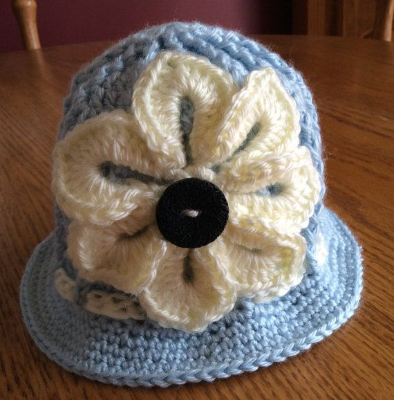 Baby Crochet Panama Hat Clouche hat Easter by DancingStitchesWest