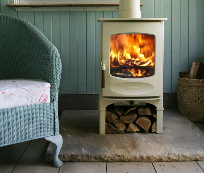 Charnwood wood burning stoves, made on the Isle of Wight. We have one, it's wonderful.
