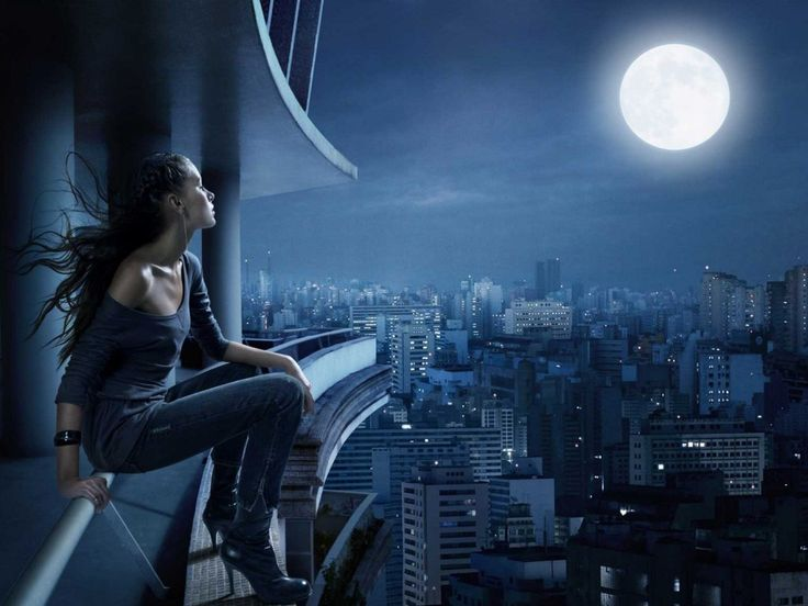 Free Beautiful Model And Moon hd wallpapers 1080p