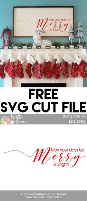 Free Christmas SVG Cut Files for Silhouette and Cricut