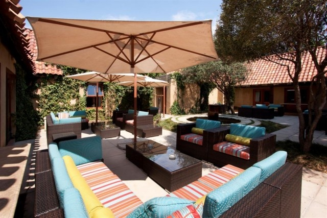 Outside lounge area- Lombardy Boutique Hotel. Quote & Book  http://www.south-african-hotels.com/hotels/lombardy-boutique-hotel/